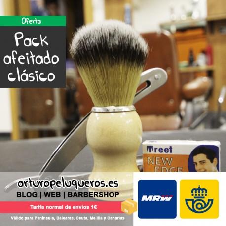 Pack afeitado clásico tradicional de barbería