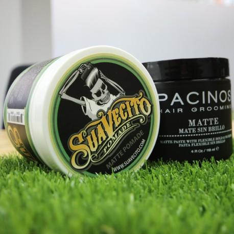 Pack de productos para efecto Mate Pacinos y Suavecito pomade