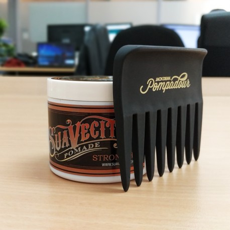 Pack Peine Pompadour con Suavecito Pomade Strong Hold
