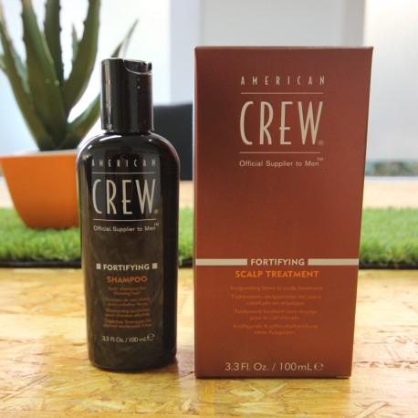 Tratamiento American Crew anticaída FORTIFYING Scalp y champú